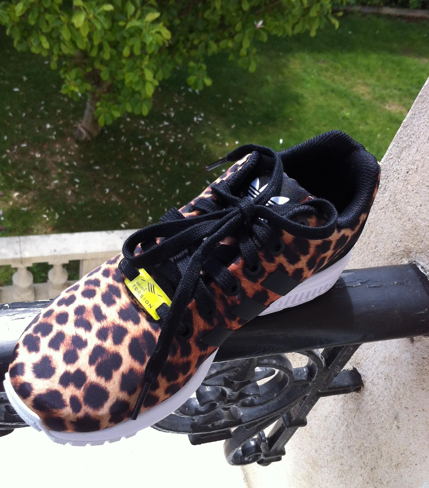 adidas flux femme leopard