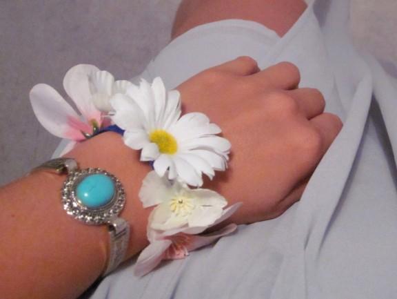 fleur en bracelet