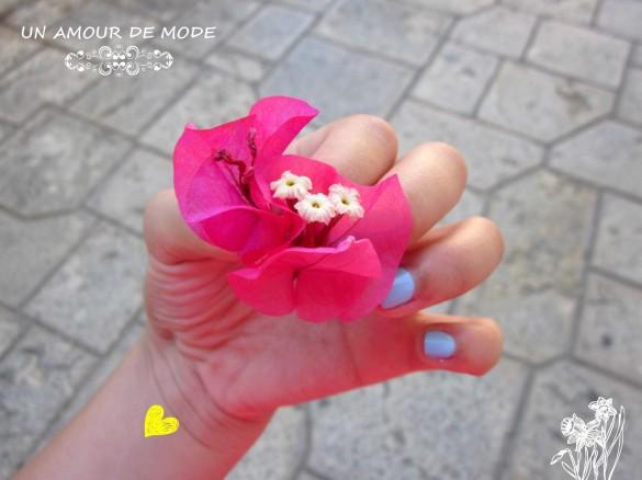 fleur dénia espagne rose manucure bleue