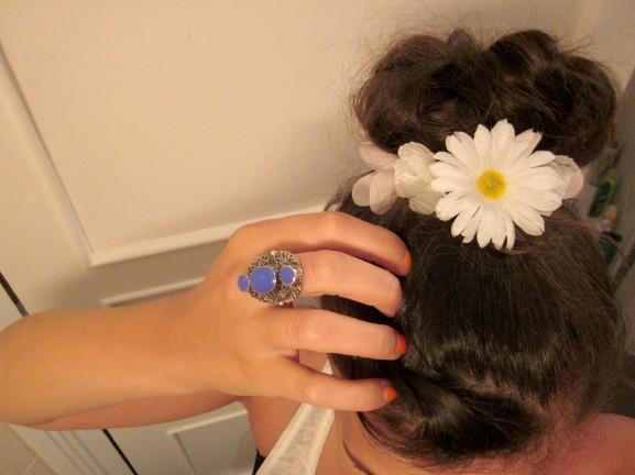 headband fleur résultat final