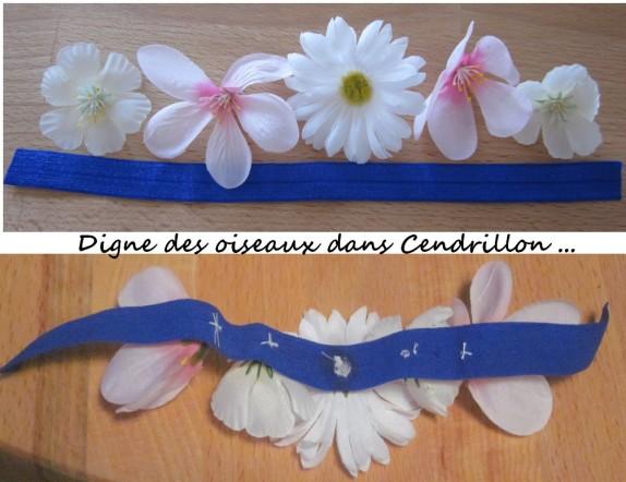 headband fleurs tissus