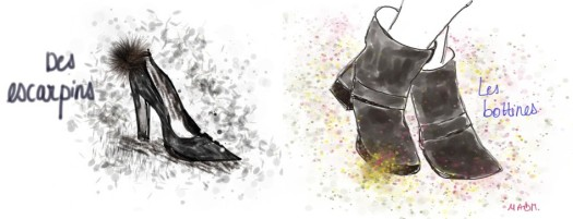 chaussures jupe midi